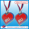 Heart russo Shape Kids Medal con Ribbon, Commemorative Heart Trophies e Medals (lzy-201300227)