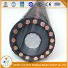 Câble en aluminium à un noyau du conducteur isolé par XLPE 15kv Urd d'UL1072 2/0AWG 1/0AWG