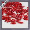 빨간색 후작 모양 유리