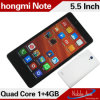 Quadrilátero Core 3G WCDMA Smartphone de Note 5.5inch Mtk6582 do arroz