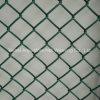 Покрынная PVC гальванизированная ячеистая сеть звена цепи загородки звена цепи
