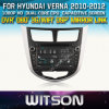 Witson Car DVD para Hyundai Verna Car DVD GPS 1080P DSP Capactive Screen WiFi 3G Front DVR Camera