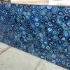 De halfedel Plak van de Halfedelsteen van het Agaat van de Luxe Grote Blauwe van China