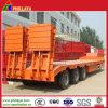 低いベッドのトレーラーを運ぶ油圧後部傾斜路の構築機械装置