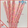 Produits larges rouges de papier d'usager de pailles à boire