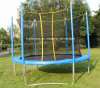 Cama de trampolim ao ar livre de 14ft para crianças com rede de segurança