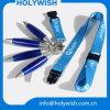 Courroie promotionnelle de collet de lanières de sublimation avec le crayon lecteur de bille