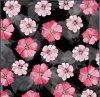 Tissu 100% de coton fait sur commande d'impression de Digitals de fleur de qualité de Hight Zzc-002