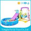 Пластичное крытое скольжение игрушек малышей, качание с раздувным бассеином шарика для сбывания