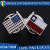 Pin отворотом флага фабрики изготовленный на заказ дешевый перекрестный