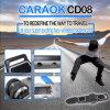 O skate eletrônico o mais novo do balanço do auto de duas rodas de Caraok CD08 com o trotinette fresco da bateria removível na rua para jovens