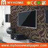El papel para pared de vinilo PVC seda de decoración interior