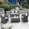 Sofa en aluminium de rotin de PE de bâti de qualité réglé pour le jardin