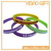 Wristband del silicone di Soild impresso abitudine per promozionale (YB-SW-05)
