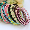 2 em 1 Colorful Bean Elastic Rubber Hairbands (JE1537)