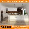 Australia Proyecto Oppein lacado blanco del gabinete de cocina de diseño