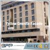 Populäre gelbe Granit-Fassade-Polierfliese für Außenwand/Fußboden
