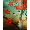 Bird and Tree Decorative Painting with Wood Frame (LH-106000)