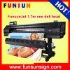 Funsunjet Fs-1700k al aire libre de gran formato de vinilo etiqueta de la impresora (1.7m, 1440 ppp, la cabeza DX5, calidad económica y buena)