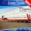 Tri d'axe de direction de Lowbed camion de remorque semi pour la Tunisie