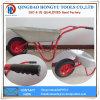 Wheelbarrows pneumáticos chapeados zinco da bandeja do metal da cor vermelha