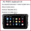 フォルクスワーゲン(AD800)の3G WiFiのアンドロイド4.0車のDVDプレイヤー