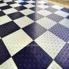 PP Diamond plancher de garage Liens rapides, plancher de lattes en plastique