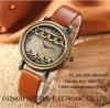 Relógio de pulso das mulheres do couro genuíno da alta qualidade (SW1757)