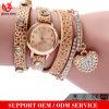 Yxl-402 de daling die Vintage Reloj DE Pulsera Watches Hete de Riem verschepen van het Leer van Vrouwen verkoopt de Pols van de Armband Dame Bracelet Watch