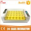 Hhd 98 % Taux d'éclosion 24 oeufs de poule incubateur numérique yz-24A