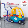 Supermarkt-Kind-Baby-Plastikspielzeug-Einkaufen-Handkarre