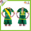 남녀 공통 여자를 위한 각종 녹색 주문 저어지 축구 축구 셔츠