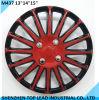 Dos colores de plástico de la rueda de coche universal cubre en 131415