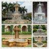 La sculpture en pierre naturelle Square/Round marbre/granit Fontaine pour Jardin/Piscine/décoration/Paysage/Yard