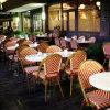 Mobilia esterna del rattan dei bistrot francesi di stile per uso del caffè del ristorante