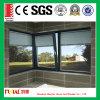 Doppeltes glasig-glänzendes Windows mit internen Vorhängen