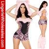 Traje atractivo de Catsuit del mono del leopardo de las mujeres