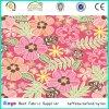 Flor de matéria têxtil do poliéster e tela Multi-Color da impressão do projeto de Leaft