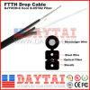 Cable de gota de la base G. 657A2 de FTTH Gjyxch 6 con el mensajero