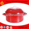 花のエナメル鍋のエナメルの鍋Stewpotの20cm十分に