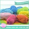 虹の敷物テープヤーンのナナカマド毛布のがっしりした編むパターン