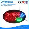 Oval Hidly comida china en el interior SEÑAL LED