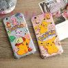 Lleno de goma a prueba de choques de la cubierta/de la caja del teléfono del amortiguador de aire de Pokemon Pikachu cubierto