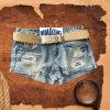 Новая джинсовая ткань Jean Dustord повелительниц конструкции способа вышивает краткостям (HDLJ0002)