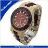 Montre du bois ronde de Digitals de montre de quartz de mode pour les hommes