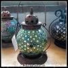 Vario della lanterna di tempesta di vetro con la maniglia del metallo