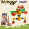 Los bloques de animales de juguete preescolar Montessori de plástico