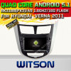 Carro DVD Gpsfor Hyundai Verna 2011 do Android 5.1 de Witson com sustentação do Internet DVR da ROM WiFi 3G do chipset 1080P 16g (A5711)