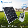 luz de inundação solar do diodo emissor de luz dos produtos da bateria de lítio de 30W IP65