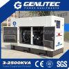Diesel 15kVA van Genlitec van de Macht (GCC15S) Super Stille Generator met Motor Changchai